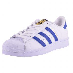 נעלי אדידס סופרסטאר פסים כחולים
